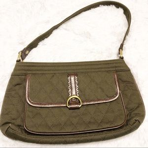 Vera Bradley Olive Green Quilted Purse